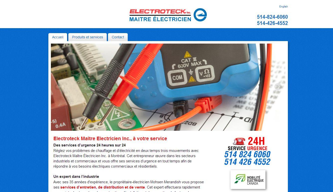 Electroteck – Électricien Point-Claire